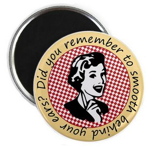 Fun retro lady design magnet